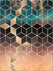 Wall sticker Ombre dream cubes