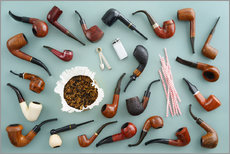 Wall sticker  Collection of smoking pipes - Elisabeth Cölfen