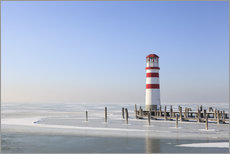 Gallery print  Lighthouse on frozen Lake Neusiedl - Gerhard Wild