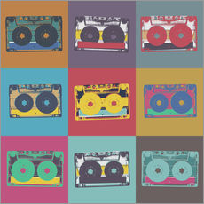 Gallery print  colorful cassettes