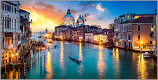 Wall Stickers  Grand Canal in Venice at night, Italy - Jan Christopher Becke