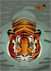 Wall sticker  Swimming tiger - Dieter Braun