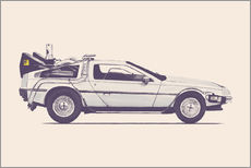 Wall sticker Delorean