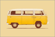 Wall sticker  Yellow van - Florent Bodart