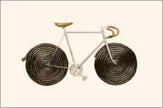 Wall sticker  Licorice Bike - Florent Bodart