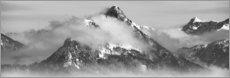Wall sticker  Mountain with Clouds - Michael Helmer