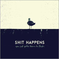 Wall sticker  Shit Happens - Romina Lutz