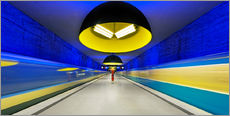 Gallery print  Subway station in Munich - Dieter Meyrl