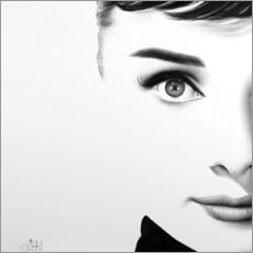 Wall Sticker  Audrey Hepburn - Ileana Hunter