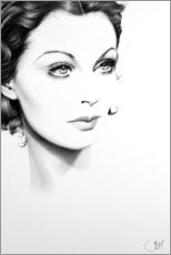 Gallery print  Vivien Leigh Minimal Portrait - Ileana Hunter