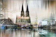 Wall sticker  Abstract skyline in Cologne, Germany - Städtecollagen