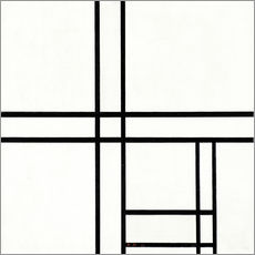 Wall sticker  Composition in White and Black - Piet Mondriaan