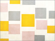 Wall sticker  composition with color planes 5 - Piet Mondriaan