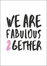 Gallery print  Fabulous together - Amy and Kurt