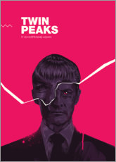 Wood print  Twin peaks - Fourteenlab