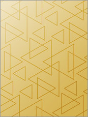 Wall sticker Golden Triangle geometry