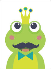 Wall sticker  Frog with mustache - Jaysanstudio