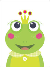 Wall sticker  Princess Frog - Jaysanstudio