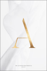 Aluminium print  GOLD LETTER COLLECTION A - Stephanie Wünsche