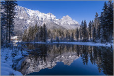 Gallery print  Hintersee in front of Reiter Alm in winter - Udo Siebig