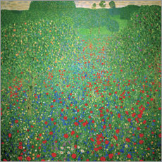 Aluminium print  Field of poppies - Gustav Klimt