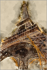 Gallery print  The Eiffel Tower in Paris - Michael artefacti