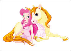 Wall Stickers  Elf and Unicorn - Kidz Collection