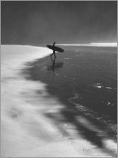 Gallery print  A lone surfer on his way into the sea. - Alex Saberi