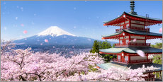 Gallery print  Chureito pagoda with Mount Fuji in Fujiyoshida, Japan - Jan Christopher Becke