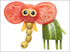 Wall sticker  Vegetable animals - elephant