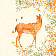 Gallery print  Magical Deer in Forest - UtArt