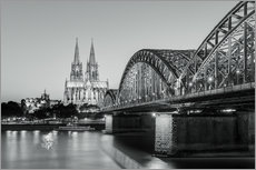 Gallery Print  Cologne at night in black and white - Michael Valjak