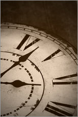 Wall sticker  picture of an old vintage clock