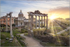 Wall sticker Sunset at the Roman Forum in Rome, Italy