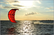 Gallery print  Kite surfers on the high seas - HADYPHOTO