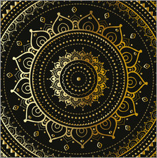 Gallery print  Golden mandala