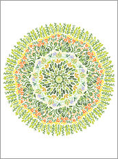 Wall sticker mandala grasses