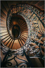 Wall Stickers  Spiral staircase with ornamented handrail - Jaroslaw Blaminsky