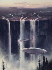 Wall sticker UFO waterfall sl