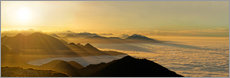 Gallery print  Mountain peak over the clouds - Michael Rucker