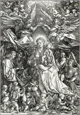 Gallery print  The Virgin and Child surrounded by angels - Albrecht Dürer