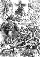 Wall sticker  The Apocalyptic woman or the woman clothed with the sun - Albrecht Dürer