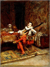 Gallery print  The Lute Player - Jean-Louis Ernest Meissonier
