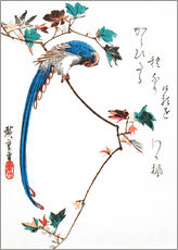 Gallery print  Blue magpie on maple branch - Utagawa Hiroshige