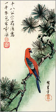 Wall sticker  Pine and parakeet - Utagawa Hiroshige