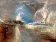 Wall sticker  Rockets and blue lights warn steamboats before shallows - Joseph Mallord William Turner