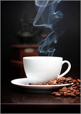 Gallery print  Steaming coffee cup