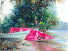 Gallery print  pink boat on side - Jonathan Guy-Gladding