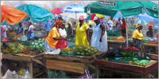 Gallery print  castries market - Jonathan Guy-Gladding