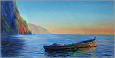 Gallery print  base of petit piton with gommier boat - Jonathan Guy-Gladding